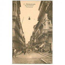 carte postale ancienne BLANKENBERGHE. Rue des Pêcheurs