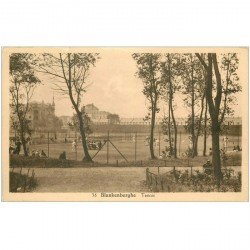 carte postale ancienne BLANKENBERGHE. Terrains de Tennis