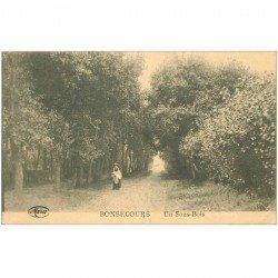 carte postale ancienne BONSECOURS. Un Sous Bois 1922