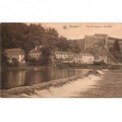 carte postale ancienne BOUILLON. Pont de France vu des bains 1913
