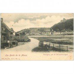 carte postale ancienne BOUVIGNES. Pris de Devant Bouvignes vers 1900