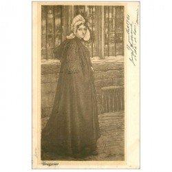 carte postale ancienne BRUGGE BRUGES. 1901 Brugeoise