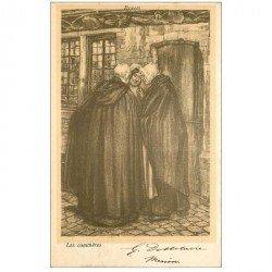 carte postale ancienne BRUGGE BRUGES. 1901 les Commères