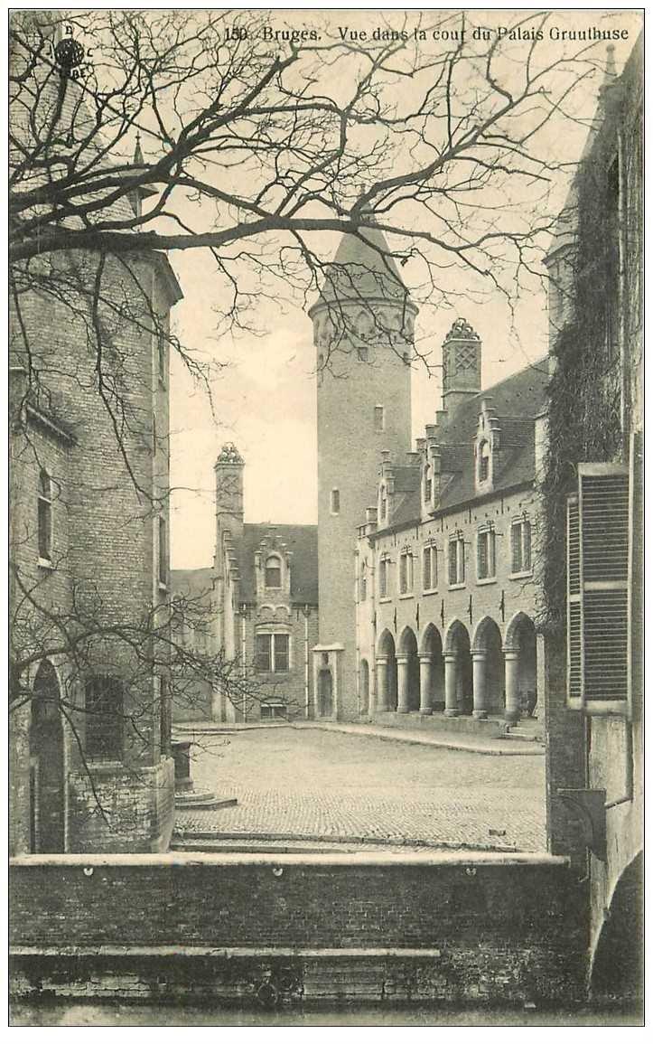 carte postale ancienne BRUGGE BRUGES. Cour du Palais Gruuthuse 1913