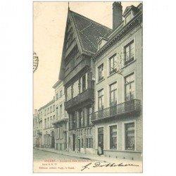 carte postale ancienne BRUGGE BRUGES. Façade en bois devant le Parc 1903
