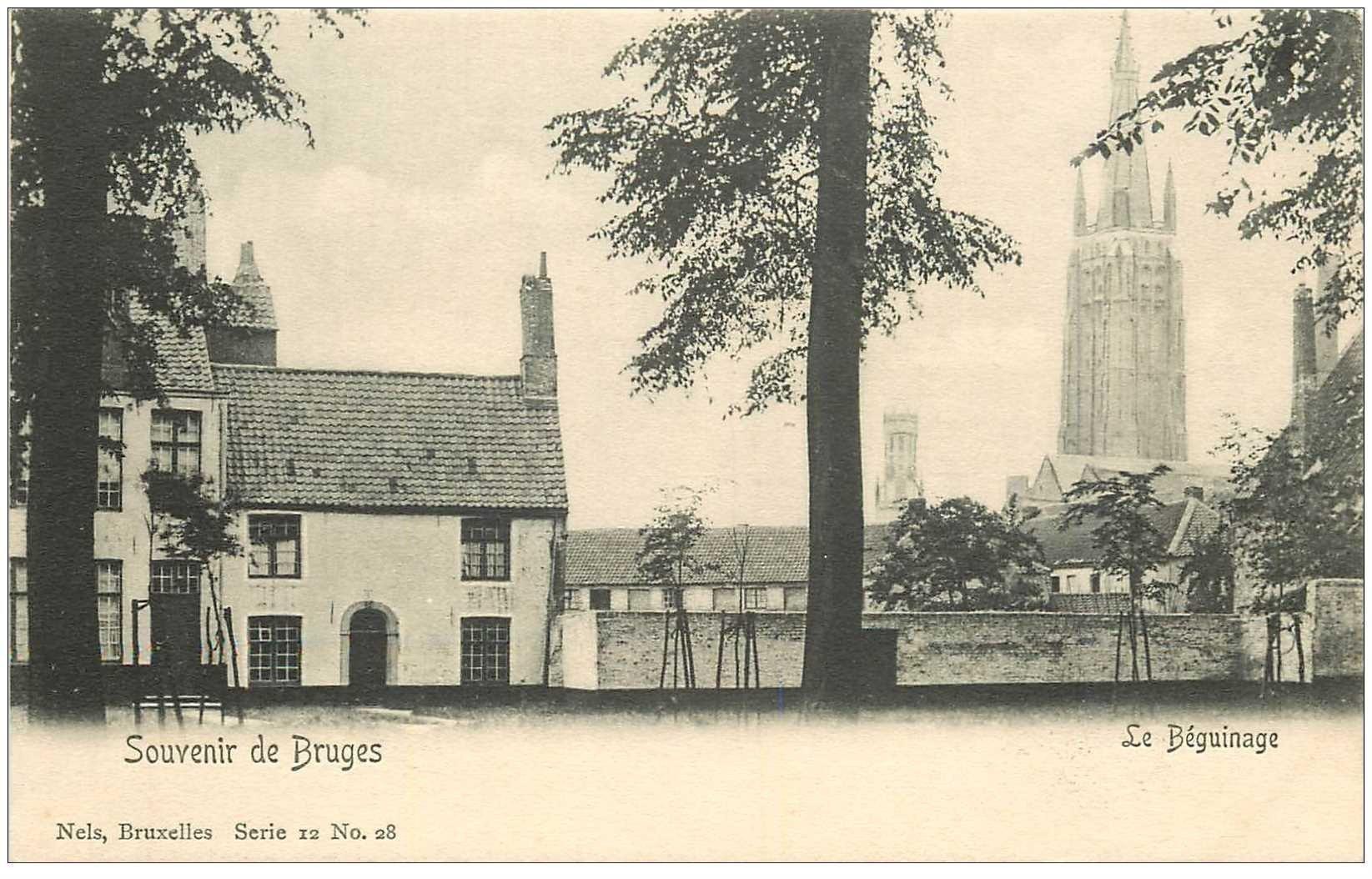 carte postale ancienne BRUGGE BRUGES. Le Béguinage