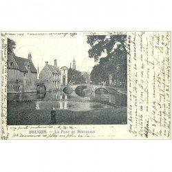 carte postale ancienne BRUGGE BRUGES. Quai du Béguinage 1902