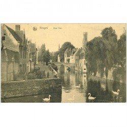 carte postale ancienne BRUGGE BRUGES. Quai Vert 1922