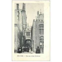 carte postale ancienne BRUGGE BRUGES. Rue de l'Ane Aveugle 1902