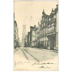 carte postale ancienne BRUGGE BRUGES. Rue Flamande 1903