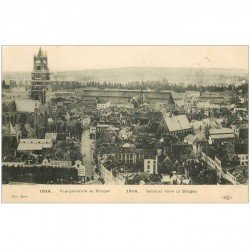 carte postale ancienne BRUGGE BRUGES. Vuer générale 1914