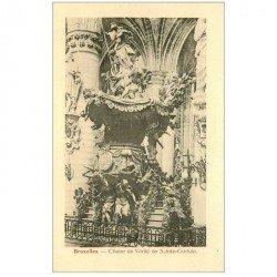 carte postale ancienne BRUXELLES. Chaire de Vérité de Saint Gudule