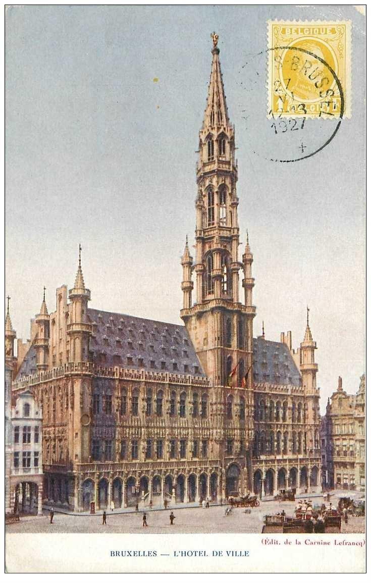 carte postale ancienne BRUXELLES. Hôtel de Ville 1927