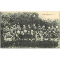 carte postale ancienne BRUXELLES. Les Combattants de 1830 Vétérans de la Guerre