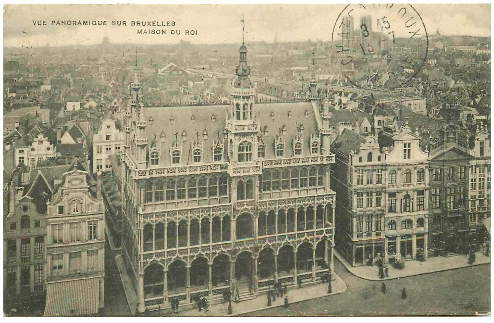 carte postale ancienne BRUXELLES. Maison du Roi 1910
