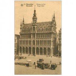 carte postale ancienne BRUXELLES. Maison du Roi voitures anciennes