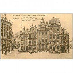 carte postale ancienne BRUXELLES. Maison Grand Duc Charles de Lorraine et du Prince d'Orange 1930