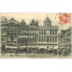 carte postale ancienne BRUXELLES. Maisons des Boulangers sur Grand Place 1909