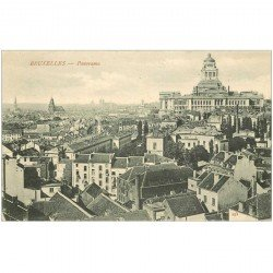 carte postale ancienne BRUXELLES. Panorama