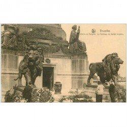 carte postale ancienne BRUXELLES. Tombeau du Soldat Inconnu Colonne du Congrès 1930