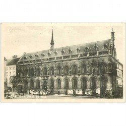 carte postale ancienne COURTRAI. Hôtel de Ville 1936