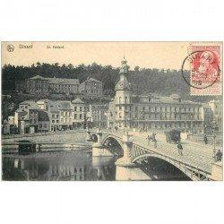 carte postale ancienne DINANT. Saint Medard et Pont 1909