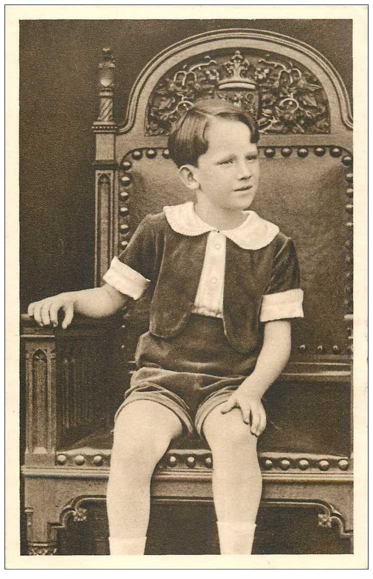 carte postale ancienne FAMILLE ROYALE BELGE. Le Prince Baudouin