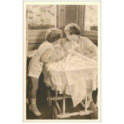 carte postale ancienne FAMILLE ROYALE BELGE. Les Enfants Royaux