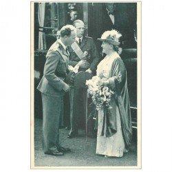 carte postale ancienne FAMILLE ROYALE BELGE. Reine Wilhelmine à Bruxelles 1939