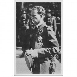 carte postale ancienne FAMILLE ROYALE. Léopold III Funéraille Astrid Reine des Belges
