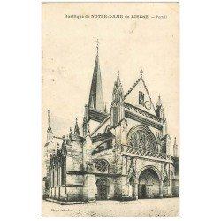 carte postale ancienne 02 NOTRE-DAME-DE-LIESSE. Eglise. Portail 1932
