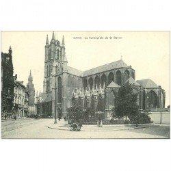 carte postale ancienne GAND GENT. Cathédrale Saint Bavon