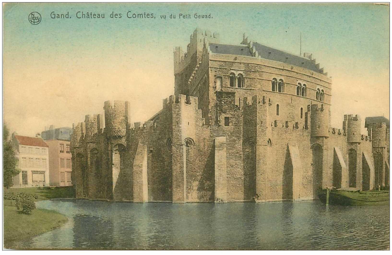 carte postale ancienne GAND GENT. Chteau des Comtes 1918