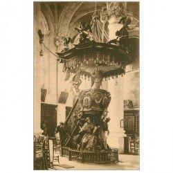 carte postale ancienne GRIMBERGHEN. Eglise Abbatiale Chaire de Vérité