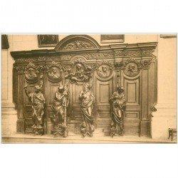 carte postale ancienne GRIMBERGHEN. Eglise Abbatiale Confessionnal