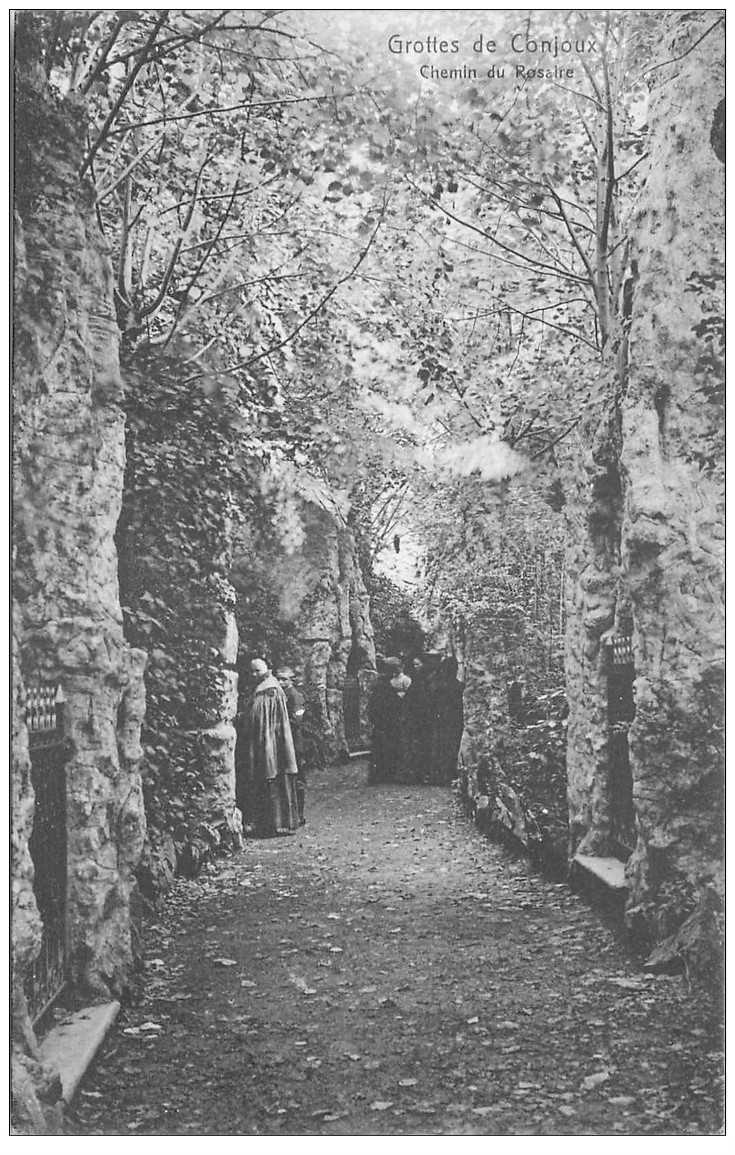 carte postale ancienne GROTTE DE CONJOUX. Chemin du Rosaire
