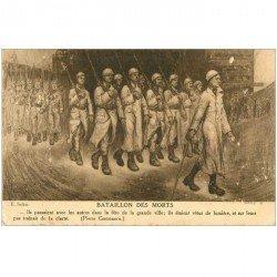 carte postale ancienne GUERRE 1914-18. Bataillon de la Mort