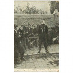 carte postale ancienne GUERRE 1914-18. Le Roi des Belges aux armes