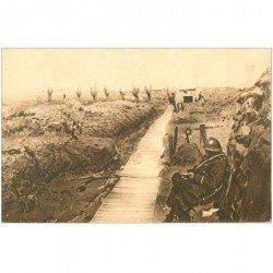 carte postale ancienne GUERRE 1914-18. Tranchées Steenstraete Tombes couronnées