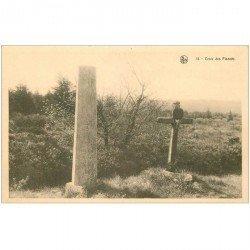 carte postale ancienne HAUTE FAGNE. Croix des Fiancés. Plateau de Botrange