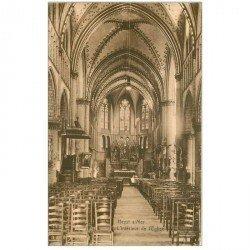 carte postale ancienne HEIST HEYST SUR MER. L'Eglise 1938