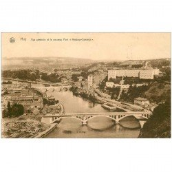 carte postale ancienne HUY. Nouveau Pont Hesbaye Condroz 1937 timbre absent