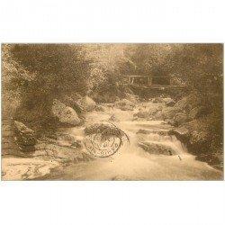 carte postale ancienne LA HOEGNE. Pont Pascal Grosjean 1931