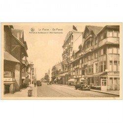 carte postale ancienne LA PANNE. Hôtel Continental Avenue Dunkerque