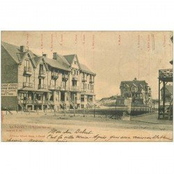 carte postale ancienne LA PANNE. Square Bonzel 1905
