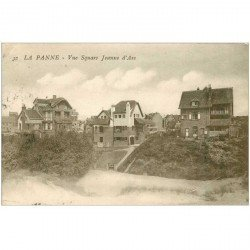 carte postale ancienne LA PANNE. Square Jeanne d'Arc
