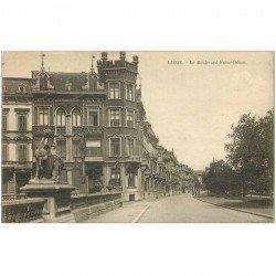 carte postale ancienne LIEGE. Boulevard Frère Orban 1922