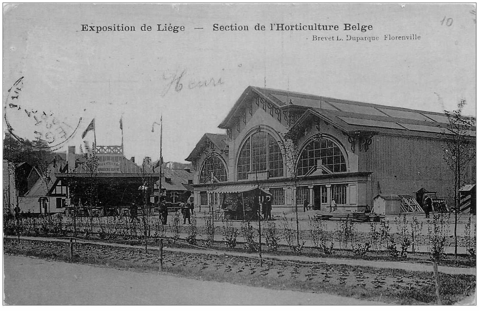 carte postale ancienne LIEGE. Exposition Universelle 1905 Section Horticulture Belge