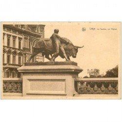 carte postale ancienne LIEGE. Le Taureau par Mignon