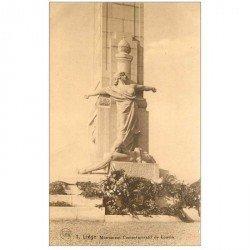 carte postale ancienne LIEGE. Monument de Loucin